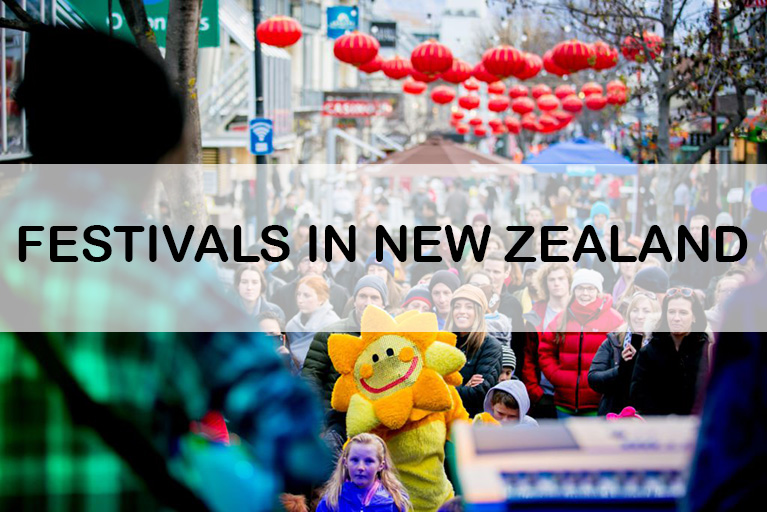 Colorful festivals in New Zealand